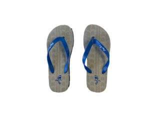 Men's Cool Gray and Blue Graphic Tread Flip Flops