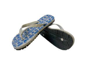 Men's Blue & Gray Off-Road Graphic Tread Flip Flops