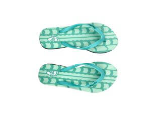 Mint and Turquoise Green Flip Flop with Tread Graphic