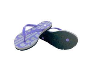 Women's Purple & Gray Traction Graphic Tread Flip Flops