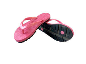 Kids Pink & Pink Traction Graphic Tread Flip Flops
