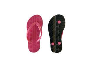 Kids Pink & Pink Traction Graphic Tread Flip Flops