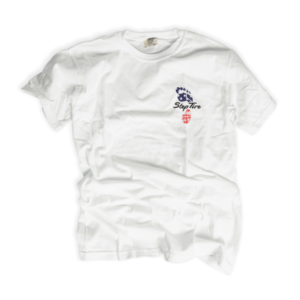Adult Tee Heavyweight Cotton (White) - ST USA Flag Logo