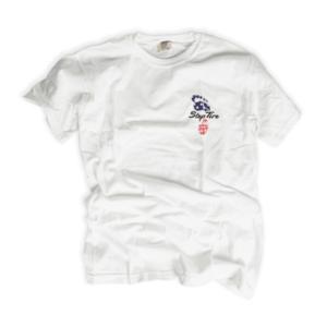 Adult Tee Heavyweight Cotton (White) - ST USA Flag Logo
