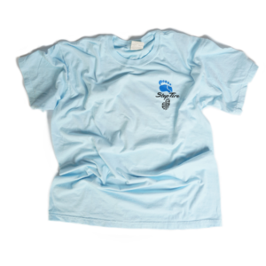 Adult Tee Heavyweight Cotton (Chambray Light Blue) - ST Logo