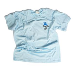 Adult Tee Heavyweight Cotton (Chambray Light Blue) - ST Logo