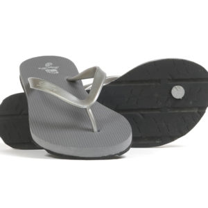 LakeNight - Silver Women's Slim Strap Flip Flops Main View