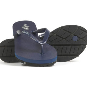 Navy Slim Strap Women's Recycled Tire Tread Flip Flops