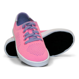 Woven Sneakers with Tire Tread Pink Purple