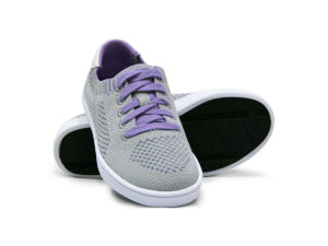 Woven Sneakers with Tire Tread Gray Grey Purple