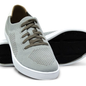 Grey Gray Tan Brown Woven Sneakers with Tire Tread Soles