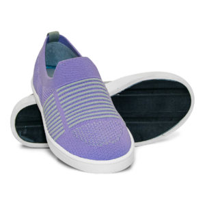Woven Sneaker Slip On Tire Tread Purple Grey Gray
