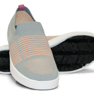 Woven Sneaker Slip On Gray Grey Pink