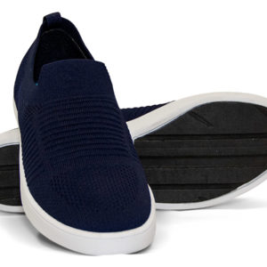 Woven Sneaker Slip On Tire Tread Navy Navy