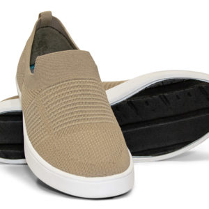 Woven Sneaker Slip On Tire Tread Tan Tan