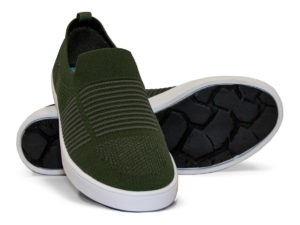 Woven Sneaker Slip On Tire Tread Army Green