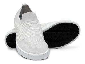 Woven Sneaker Slip On Tire Tread White White