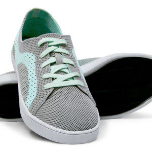 Woven Sneaker Sporty Tire Tread Gray Grey Teal