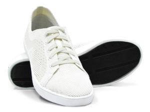 Woven Sneaker Sporty Tire Tread White White