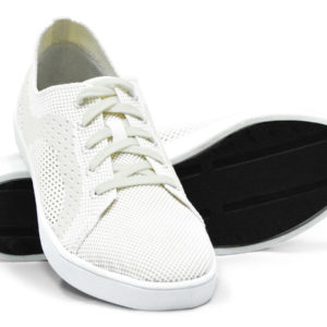 Woven Sneaker Sporty Tire Tread White White