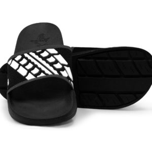 Slide Sandals Men's Women's Black and White