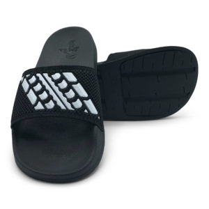 Slide Sandals Kids Black and White